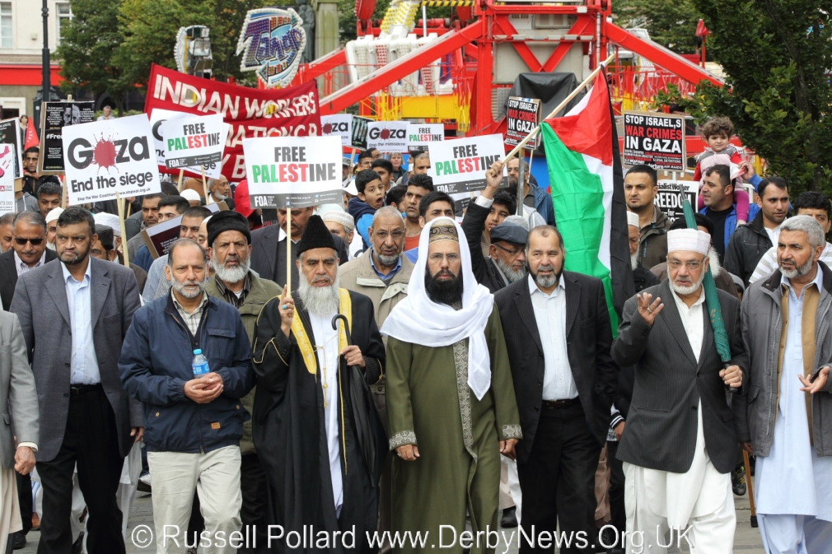 Rally for Gaza in Derby; Missed opportunity to promote cohesion