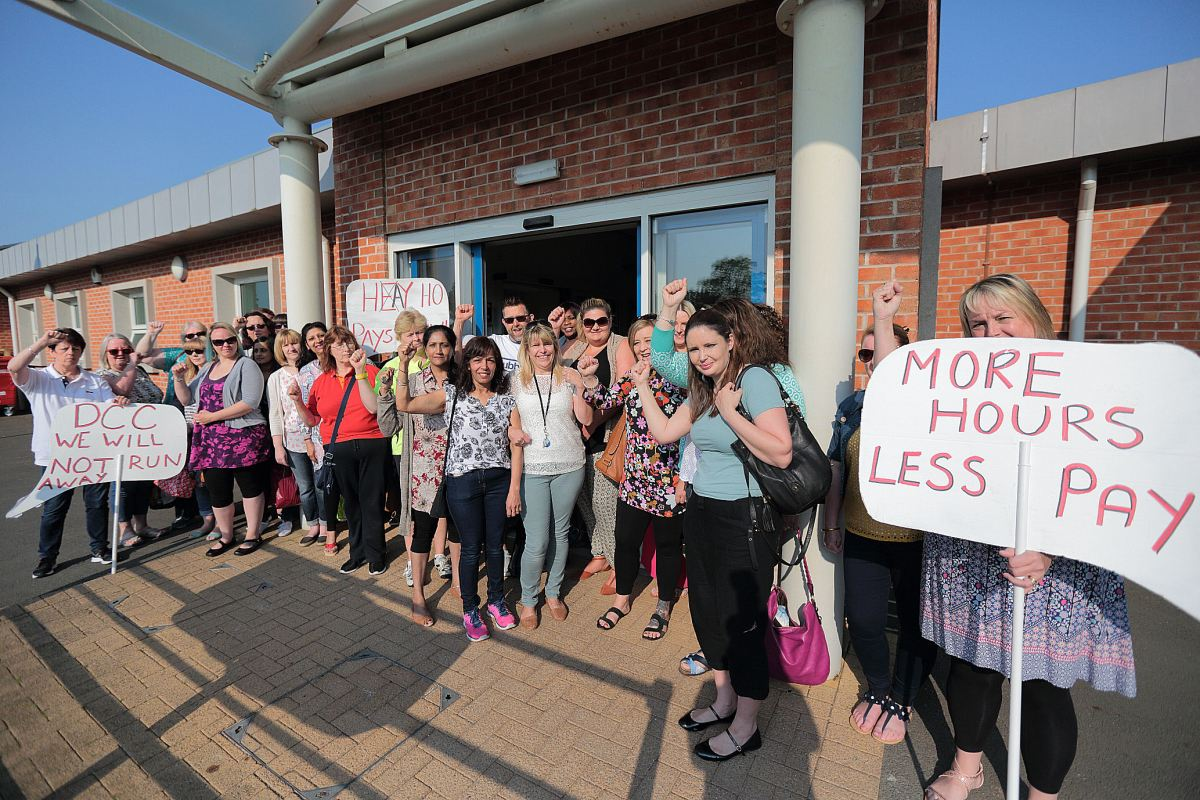 "Teaching Assistants dismissed, and forced by Derby City Council to ""accept"" Pay cuts"