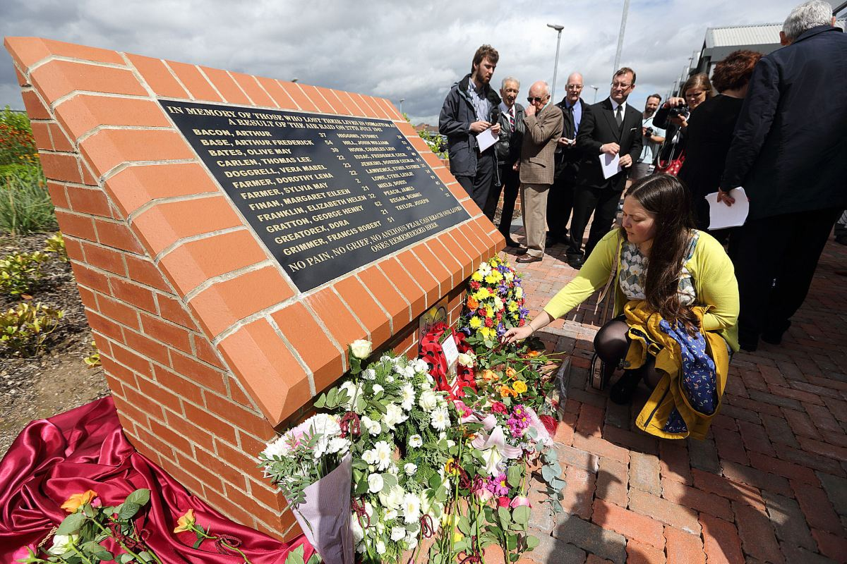 75 years ago : Memorial unveiled to commemorate 23 people killed during bombing raid on Rolls-Royce