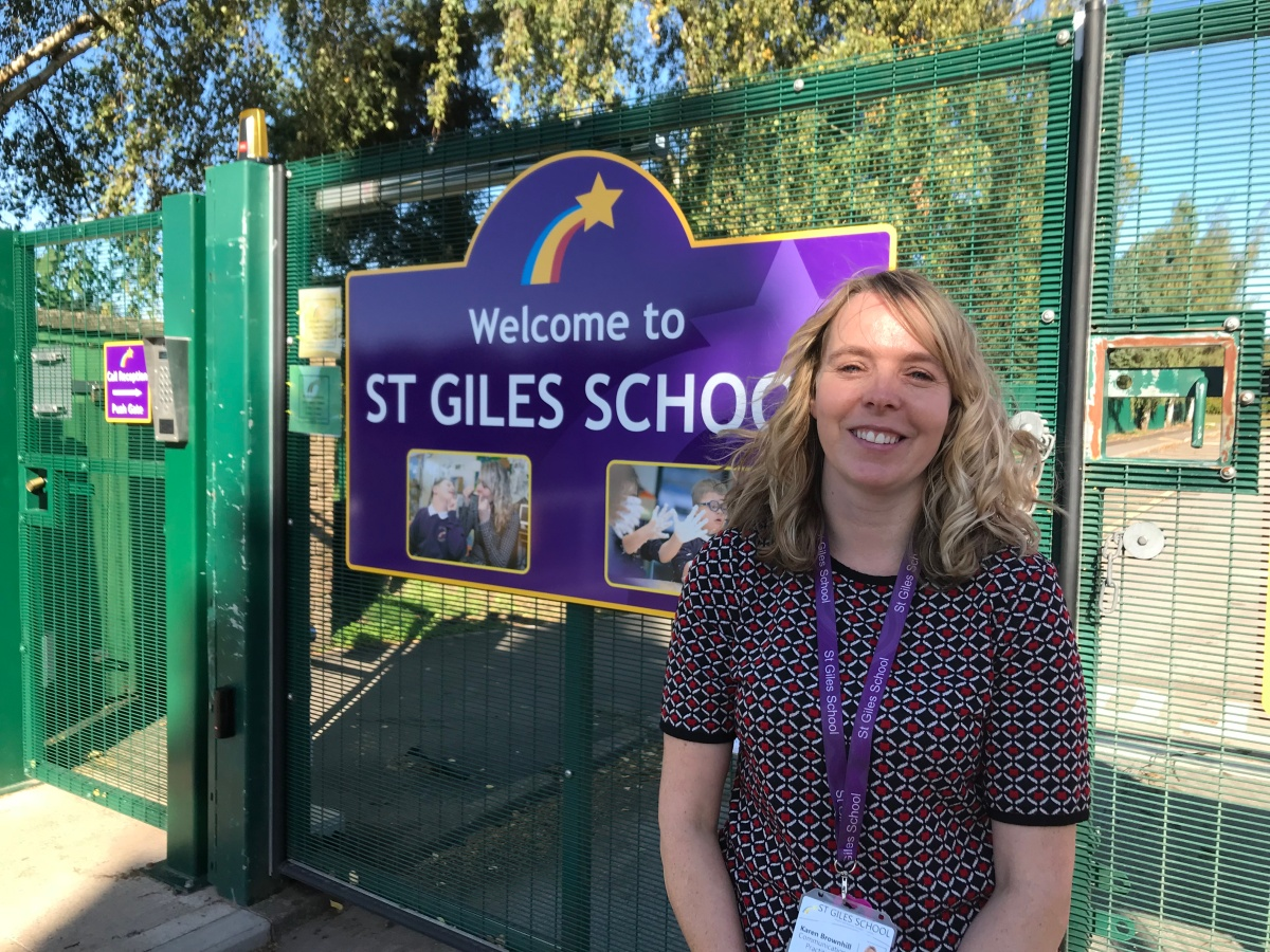Karen Brownhill, communication practitioner at St Giles School, shortlisted for a national special educational needs award